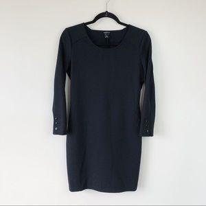 Club Monaco Black Long Sleeve Fitted Dress Size 6